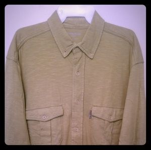 "Woolrich bright olive ""resort casual"" shirt"